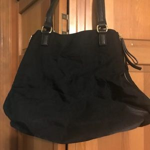Black Nylon handbag- Banana Republic
